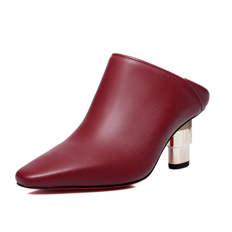 Фотография Full Grain Leather Slip-On Square Toe Fashion Boots woman casual shoes ankle boots Strange Style