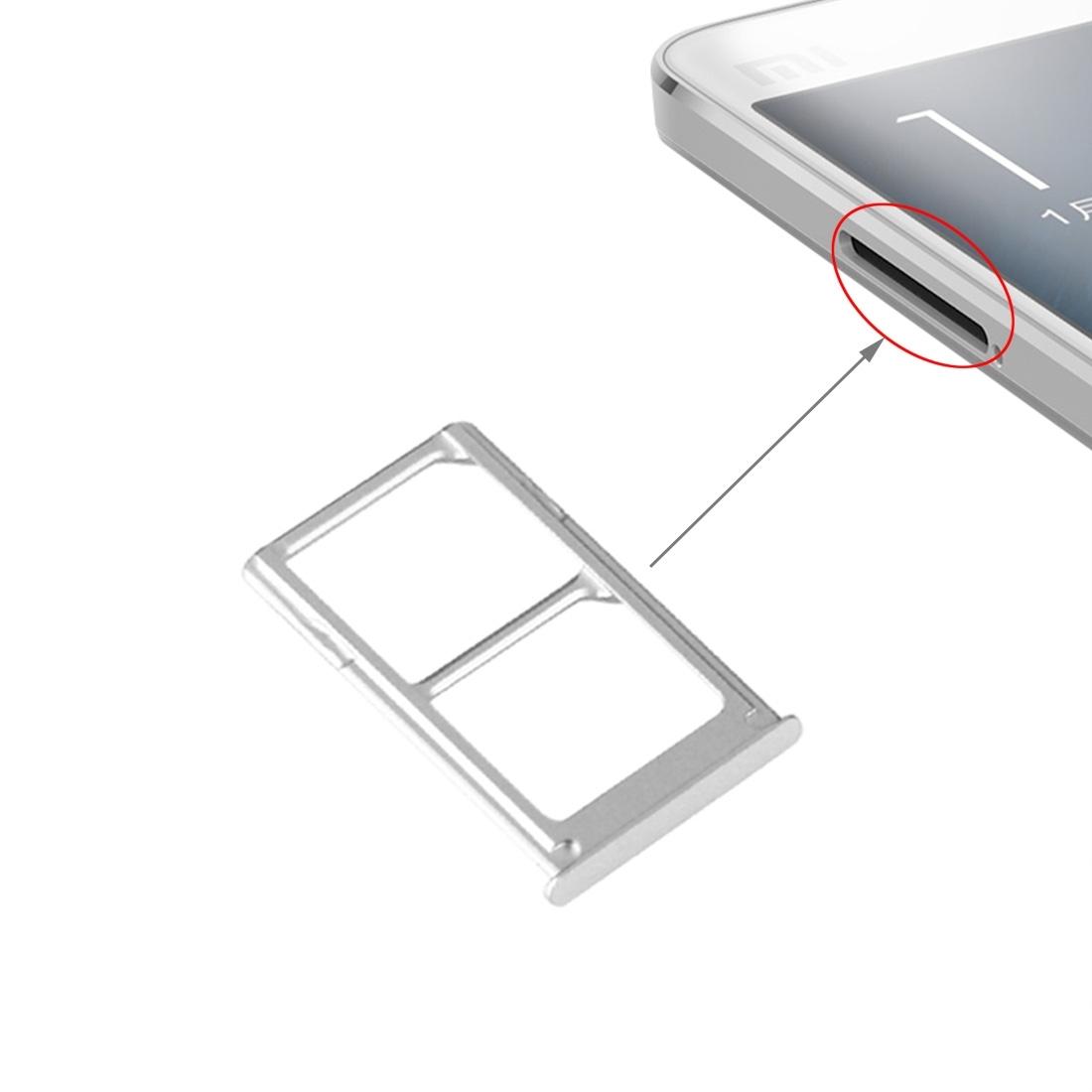 Original for Xiaomi Mi 5 Mi5 M5 Nano SIM Card Tray Holder Slot Adapter Replacement Repair Parts Black SilverTested