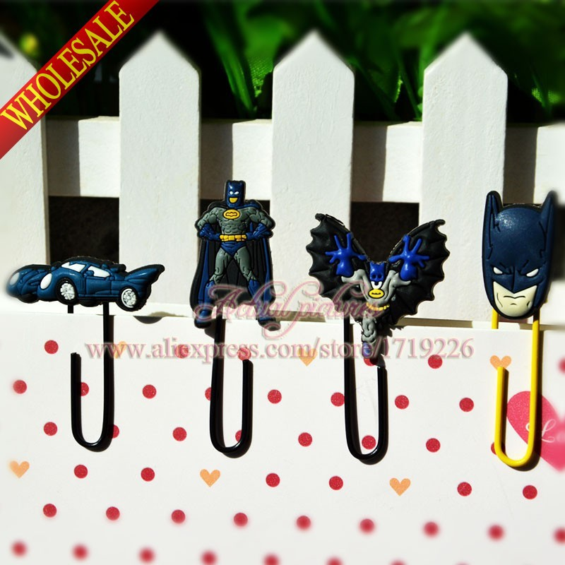 80PCS Batman Avengers Cartoon Bookmarks,Paper Clips,Bookmarks for Book Page Holder,for books school supplies stationery gifT(China (Mainland))