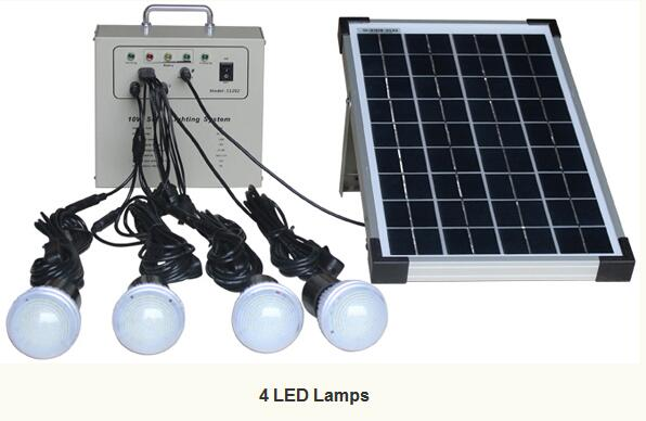 MXSOLAR 10w portable Hot solar system Solar lighting kit energy saving with 4 bulbs(China (Mainland))