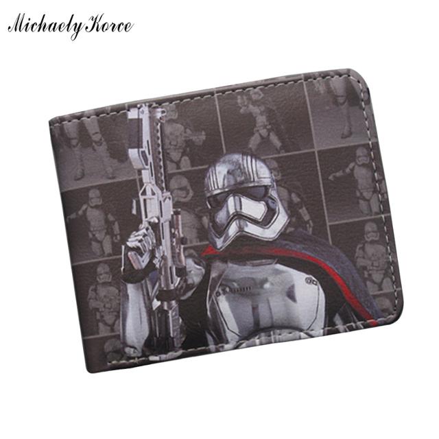 Star Wars Бумажник Высокого Качества Кожа Короткие Кошелек Черный Рыцарь бумажник ...