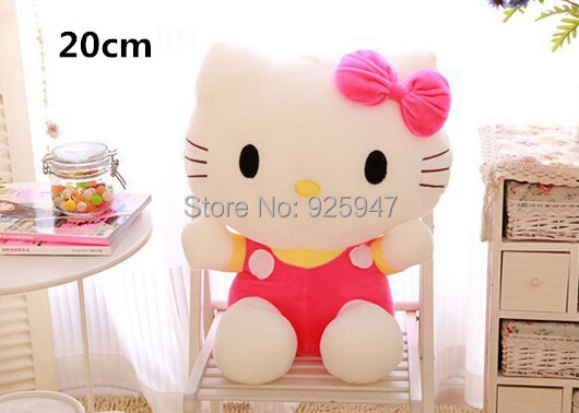 Novelty item soft plush stuffed animal doll,1pcs/ cute Hello kitty toys PP cotton pillow birthday gift 20CM GZ007 - Football Sport World NO.1 store