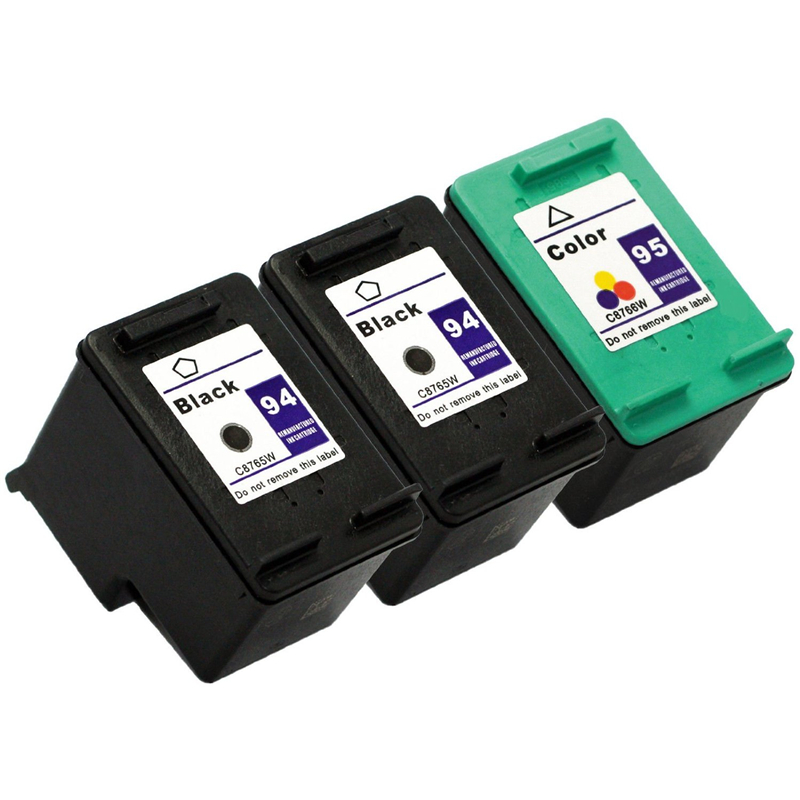 2Pk printer cartridge HP 94 95 ink hp94xl 95xl HP Deskjet 5740 6540 6840 9800 9860 5440 Psc1510 1610 2355