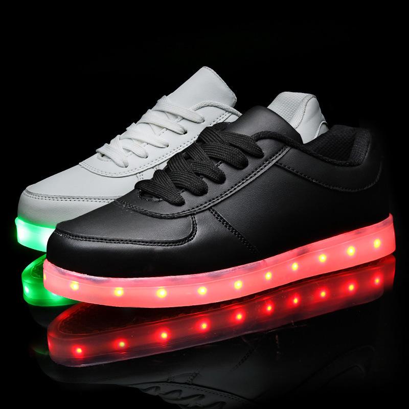 Led shoes for adults led light shoes man 2016 new led luminous shoes men casual shoes(China (Mainland))