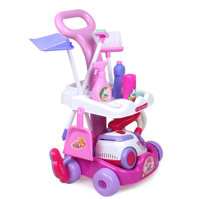 Girl toys child cart cleaning belt vacuum cleaner cleaning tools clean bay11 gift play house toy clear toys(China (Mainland))