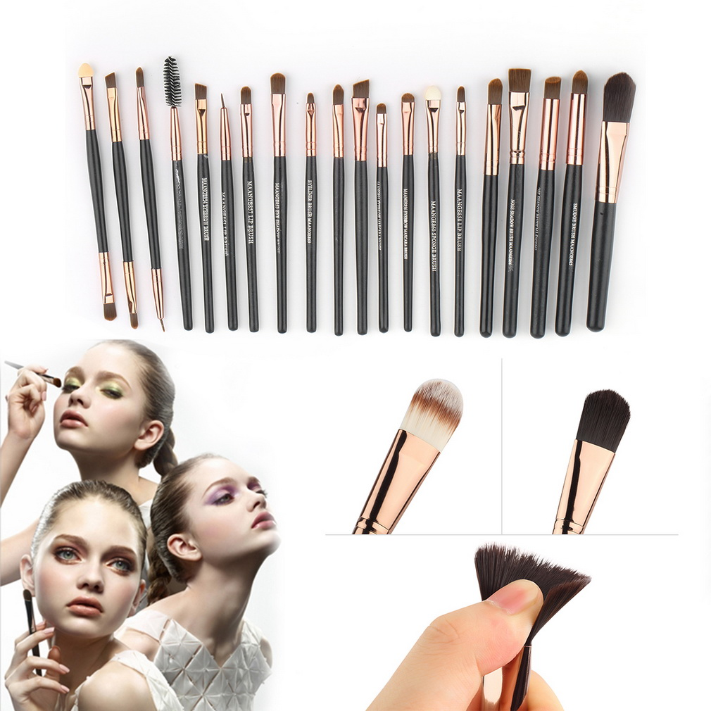 Free shipping TOP Quality Professional 20 PCS Cosmetic Facial Make up Brush Kit Wool Makeup Brushes Tools Set<br><br>Aliexpress