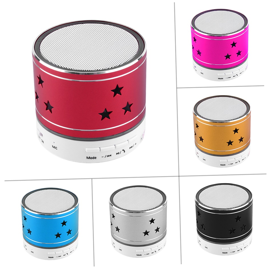 Universal Mini Bluetooth Five Star Speaker Wireless LED Light TF Card Stereo Music Boombox Loudspeakers For Cell Phone Tablet PC(China (Mainland))
