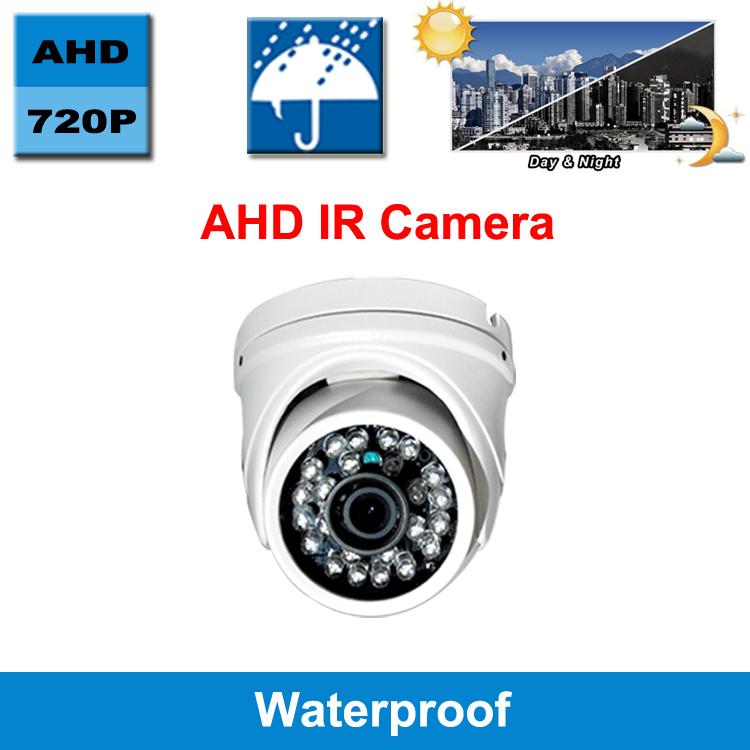 Hot 720P Color IR lens CMOS sensor metal AHD camera with IR-CUT filter waterproof Outdoor Dome Camera 24 IR LED security CCTV HD<br><br>Aliexpress