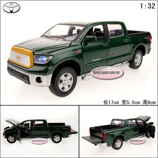 1:32 Toyota Tundra Alloy Diecast Model Car Toy With Sound&Light Green B1993(China (Mainland))