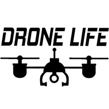 "14CM*7.8CM Drone Decal Car Sticker UAV "" Drone Life"" Vinyl Car Stylings Motorcycle Decoration Black/Sliver C8-1423"