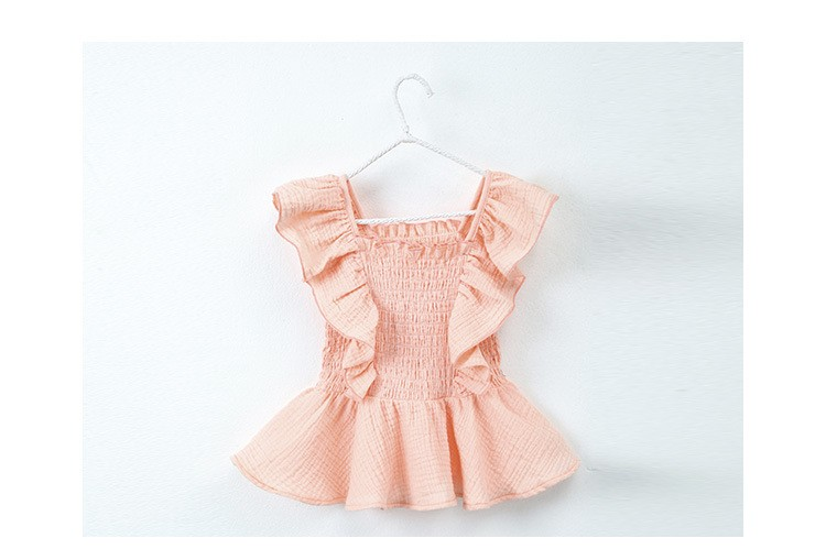 mother and daughter clothes suits girls summer clothes 2016 sets black pink girls set loose shorts and ruffles vest tops set