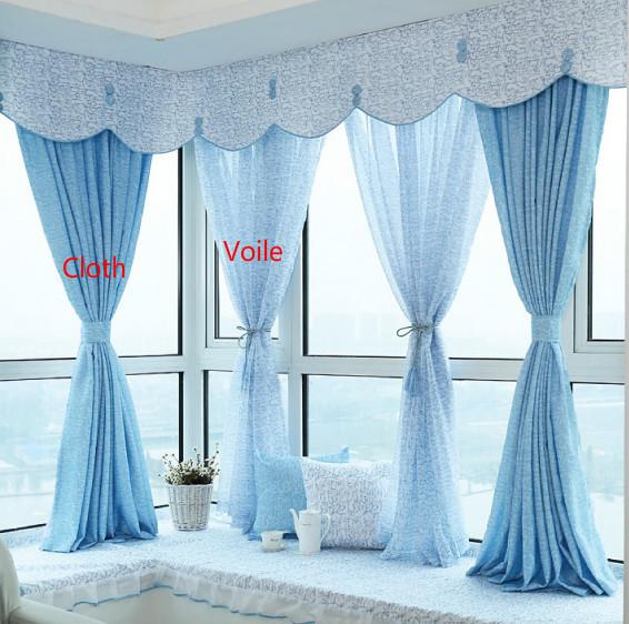 Personnalisé haute qualité frais voile rideau, Fenêtre d'impression dépistage, Océan style baie vitrée rideau, Cantonnière(China (Mainland))