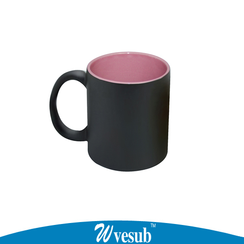 48pc Magic Changing Color Mug Ceramic Mugs Coffee/Milk/Tea Cup 6 Color Temperature Sensing Mug Sublimation Blank Cup(China (Mainland))