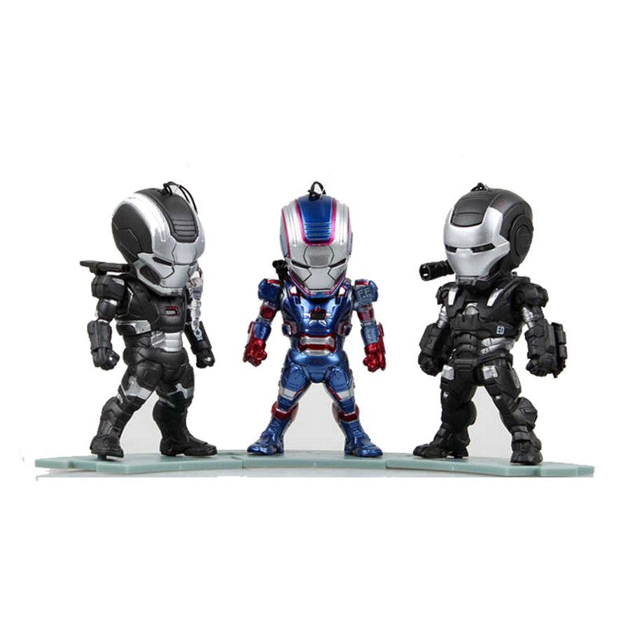 Marvel led light 3pcs/lot super hero doll pvc dolls ironman action figure iron man toy figures the avengers toys free shippping.(China (Mainland))