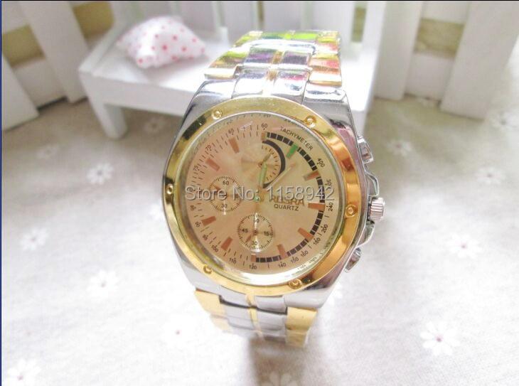 10pcs/lot ROSRA Brand Big Dial Alloy Watch Fashion Men Business Casual Watch Wrap Quartz Dress Wristwatch Hot Seller For Men<br><br>Aliexpress