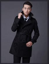 2016 Top Knitted Customize Top Quality British Slim Double Breasted Mens Trench Coat Europe Trenchcoat Male Free Shipping(China (Mainland))