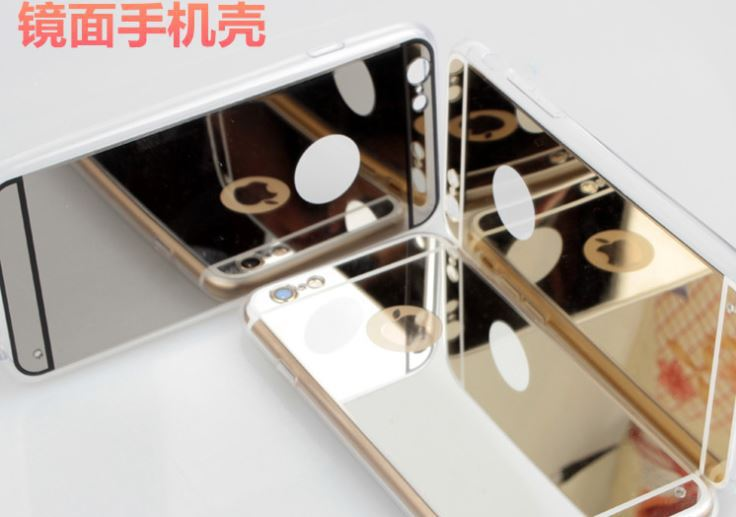 The new for iphone6 mobile phone shell plating mirror 6plus mirror 5S mirror mobile phone shell mobile phone protective sleeve(China (Mainland))