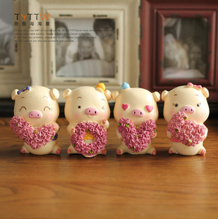 Fashion rustic home decoration resin doll decoration rose love shote lovers gift(China (Mainland))