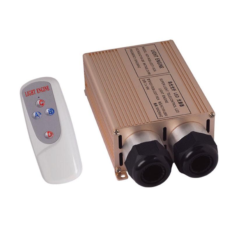 1X High 32W RGB LED optical fiber light engine 4 key RF remote controller express free