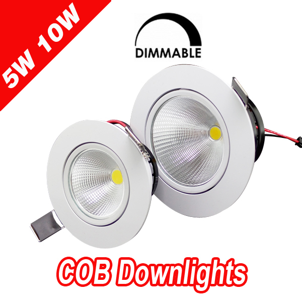 Hot sale 5w 7w 10w cob led downlight dimmable recessed lamp home led epistar spot led kitchen 110v 220v(China (Mainland))