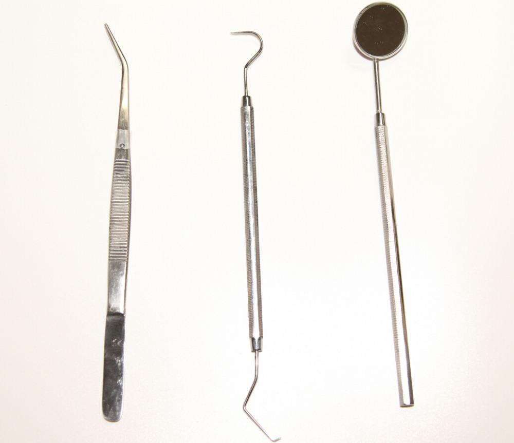 3 pcs set en acier inoxydable dentaire dents outils de nettoyage de l 39 examen oral dents nettoyer. Black Bedroom Furniture Sets. Home Design Ideas