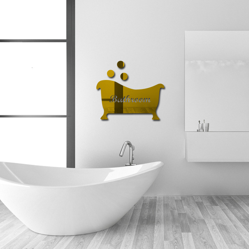 2016 new 3d wall stickers 2mm toilet home decor modern for 3d bathroom decor