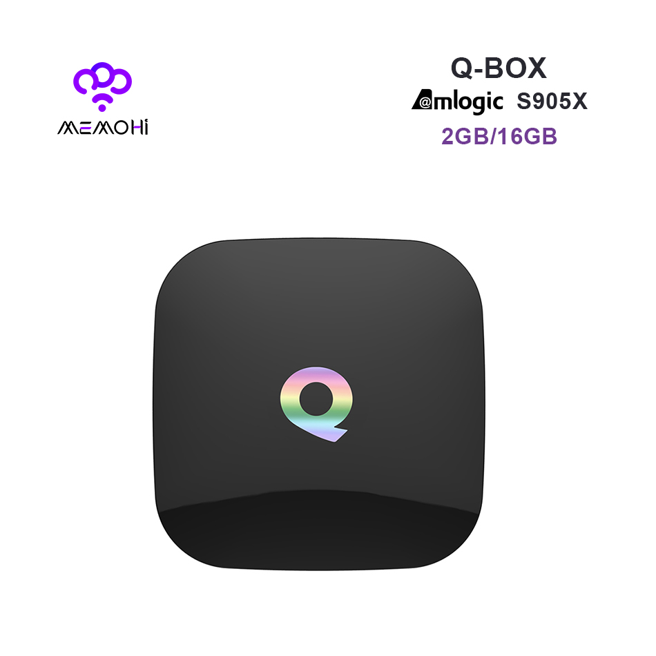 MEMOBOX Q BOX Android 6.0 Smart TV Box S905X Quad Core support UHD 4K H.265 DLNA Airplay Dual band WiFi BT4.0 Set-top box 2G 16G(China (Mainland))