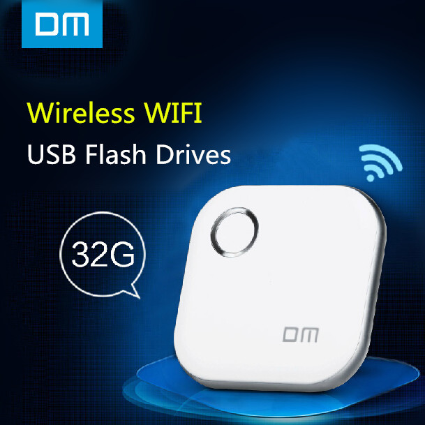 DM WFD015 Wireless USB Flash Drives 32GB WIFI For iPhone / Android / PC Smart Pen Drive Memory Usb Stick Multiplayer With Share(China (Mainland))
