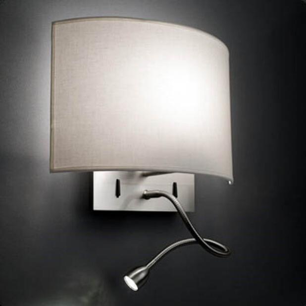 2015 Modern minimalist fashion LED bedside reading wall lamp led silver bedside lamp reading wall lamps for hotel with switch(China (Mainland))