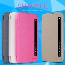 Buy case LG K10 NILLKIN Sparkle super thin flip cover leather case LG K10 Retailed Package for $7.91 in AliExpress store