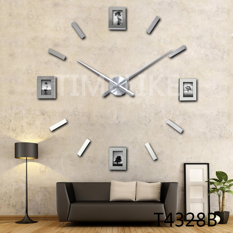 photo frame clock diy large 3d wall sticker clock home