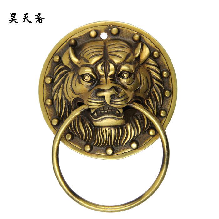 [Haotian vegetarian] new Chinese ancient bronze door knocker door handle copper beast handle HTA-1115<br><br>Aliexpress