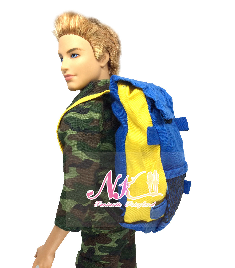 NK 5 Pcs/Lot  Doll  Military Knapsack Marines Fight Equipment Bag For Barbie Boy Male Ken Doll For Lanard 1/6 Soldier Finest Present
