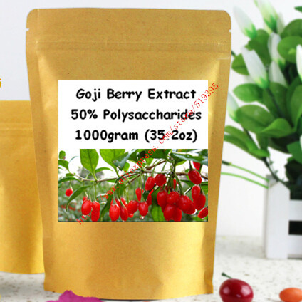 1000gram(35.2oz) Goji Berry Extract Powder 50% Polysaccharide Strong Antioxidant, Anti-aging free shipping