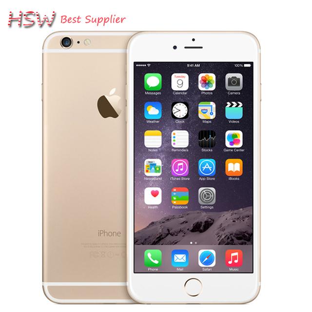 Разблокирована Оригинальный Apple iPhone 6 plus Класс качества IOS Двойной Core 2 ГБ ОПЕРАТИВНОЙ ПАМЯТИ 16/64/128 ГБ ROM 5.5 ''8.0MP Камера LTE Сотовый Телефон