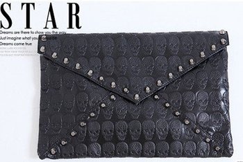 Classic skeleton head handbags,Hobos,Studded leather bag,Ladies skull bag shoulder bag hot sale EB128