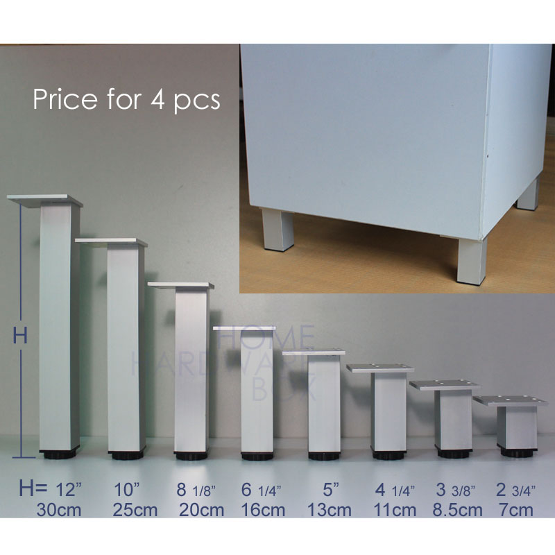 16cm furniture leg aluminum adjustable table legs 4 pc(China (Mainland))