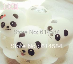 Aliexpress.com : Buy Free shipping Panda expression Jumbo Squishy Buns Bread Key Ring Charms ...