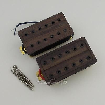 Здесь можно купить  Wood Cover Dual Humbucker Pickup Set Neck & Bridge for LP SG Guitar  Спорт и развлечения