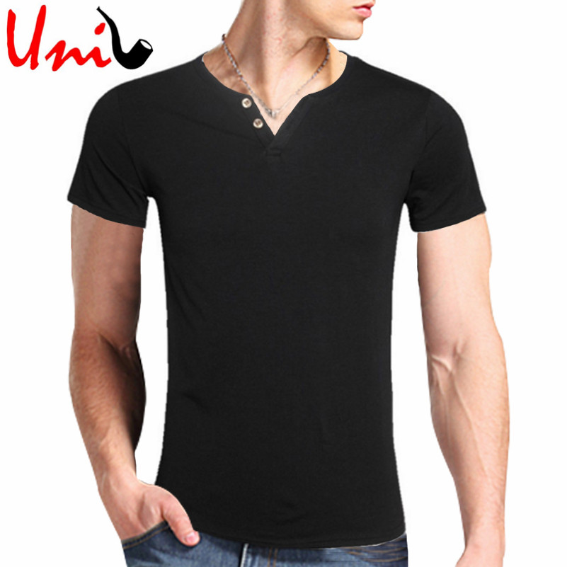 Mens tshirts 2016 summer new fashion solid color short for Good quality cotton t shirts