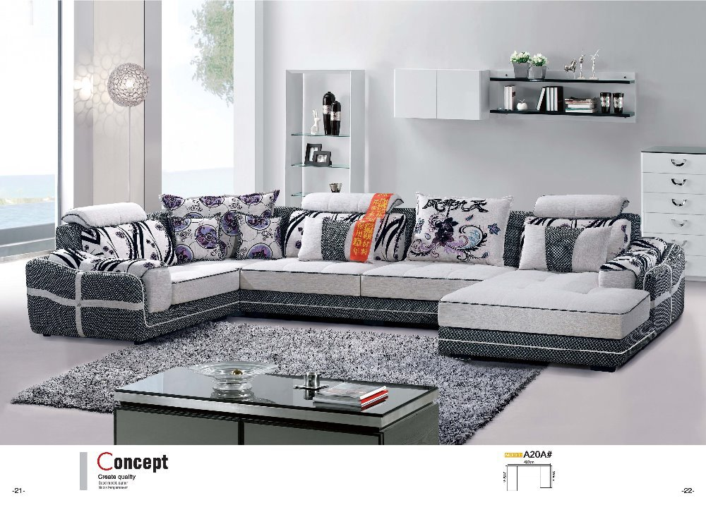 A20a fabric sofa set living room furniture sofa sets home - Tela para sofa ...