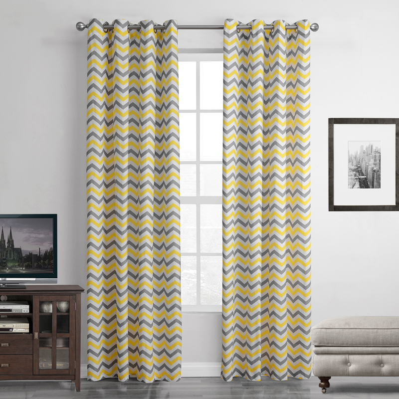 yellow solid curtains for windows kitchen sheer curtain punching