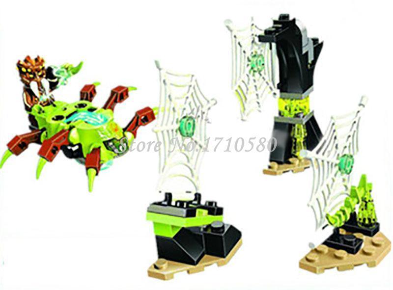 Bela 10082 Qigong Legend Series II Cobweb Attack Minifigures Building Blocks Bricks Sets Models Toys(China (Mainland))