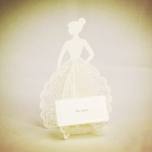 Amazing White Laser Cut 3D Pop Up Handmade Kirigami Greeting Cards as Bridal Dress Happy Birthday for Girl 10pcs Free shipping(China (Mainland))
