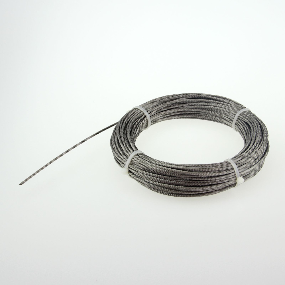 free shipping Stainless steel wire rope 7 * 7 rope Diameter:0.42mm Roll 200M(China (Mainland))
