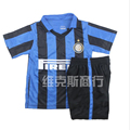 2015 16 Inter Home Kit Sports Kids Boys Soccer Clothing Sets Children Students Training Football Uniform