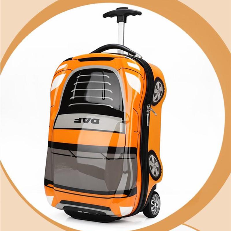 2014 New Kids Trolley School Bag Fashion Children Cartoon ABS+PC Wheels Travel Bags
