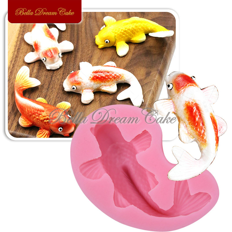 Silicone Fondant Cake molds 3D Fish Candle Moulds Soap Mold Chocolate Mould for The Baking Tools Cake SM-225(China (Mainland))