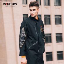 VIISHOW Winter Long Trench Coat Men Print New Coat Classic Men's Outwear Casual Jacket Lover Windbreaker Mens Trench Coat(China (Mainland))