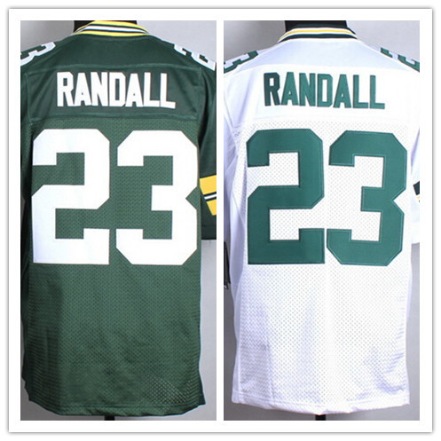 2015 Draft Green White Randall Jersey,Men's sport Elite #23 Damarious Randall Football Jersey New Arrive size 40-60(China (Mainland))